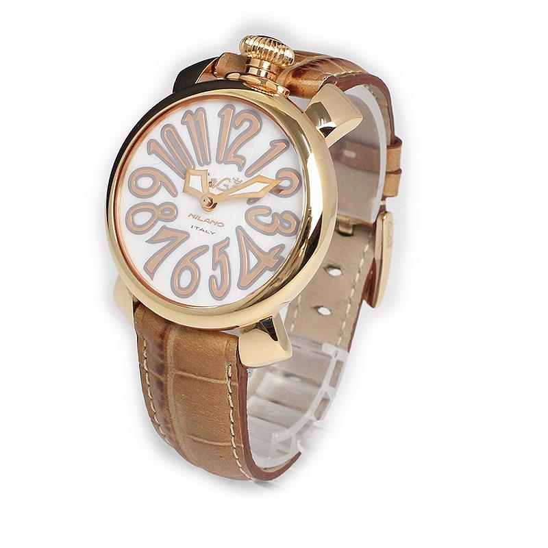 ガガミラノ マヌアーレ 40mm シェル クォーツ ユニセックス 腕時計 5021.2 【未使用 展示品】