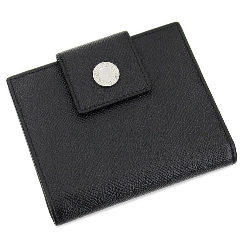 ブルガリ グレインレザー Wホック財布 20201 ブラック 黒 箱付【新品・未使用品】