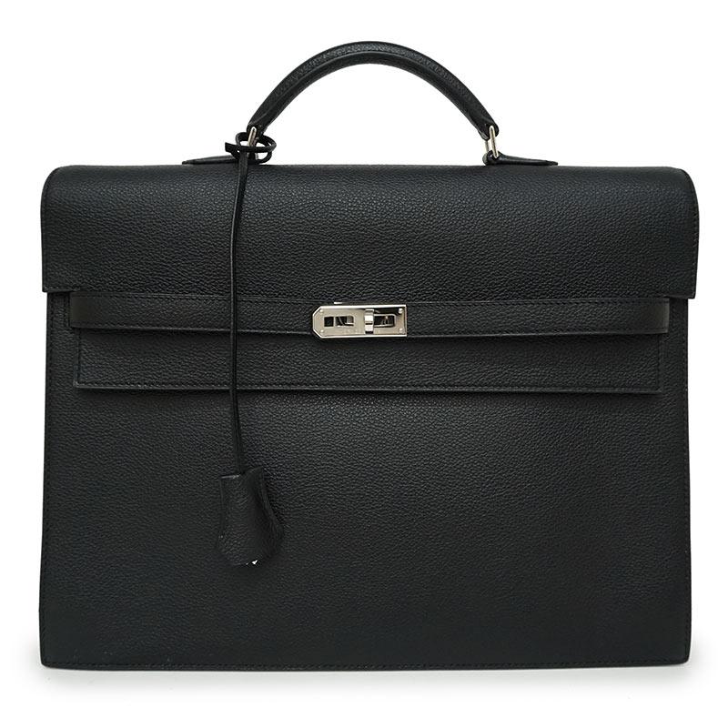 エルメス エプソン ケリーデペッシュ 34 ビジネスバッグ ブラック 黒 □N刻印【未使用 展示品】