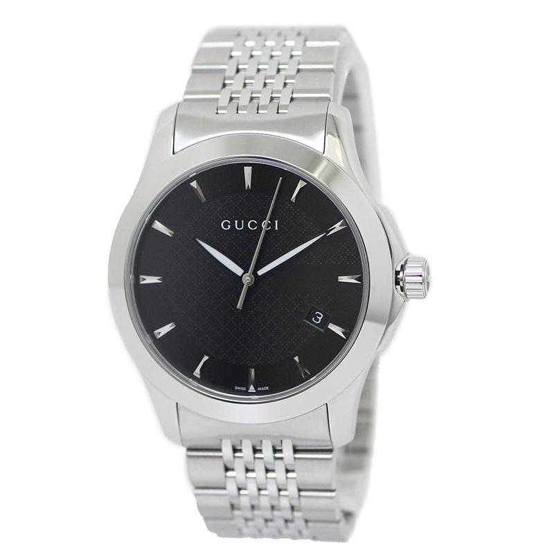 グッチ Gタイムレス クォーツ メンズ 腕時計 YA126402【未使用 展示品】
