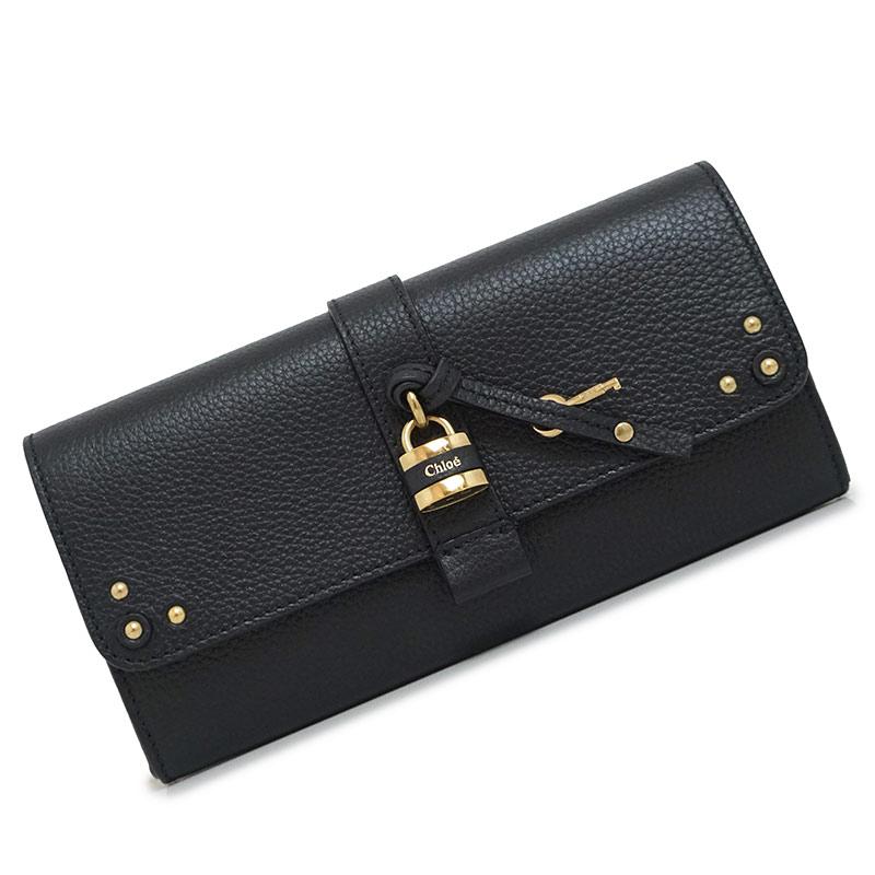 クロエ パディントン オーロラ レザー 二つ折り長財布 黒 ブラック 3P0144 箱付【新品・未使用品】