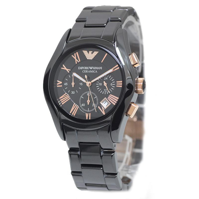 エンポリオアルマーニ 黒文字盤 メンズ腕時計 AR1410 箱付 【未使用 展示品】