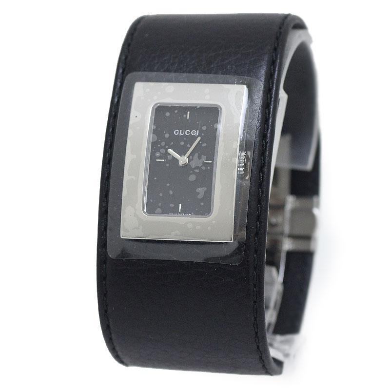 グッチ ワイド・ジェンツ レザー バングルウォッチ 7800L メンズ 腕時計 クォーツ YA078506 【未使用 展示品】
