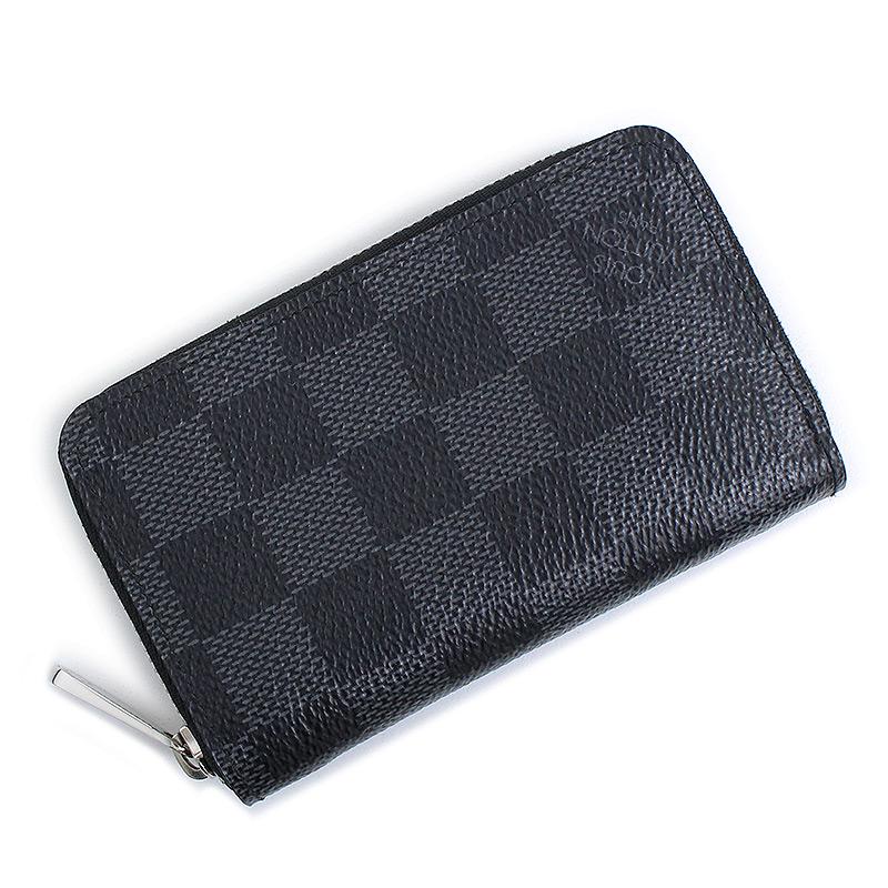 ルイ・ヴィトン ダミエ・グラフィット ジッピー・コイン パース 財布 N63076 箱付【美品】