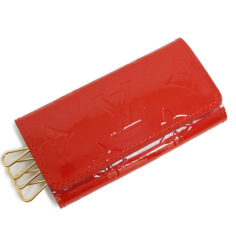 ルイ・ヴィトン ヴェルニ ミュルティクレ4 キーケース M90204 レッド 赤 箱付【新品・未使用品】