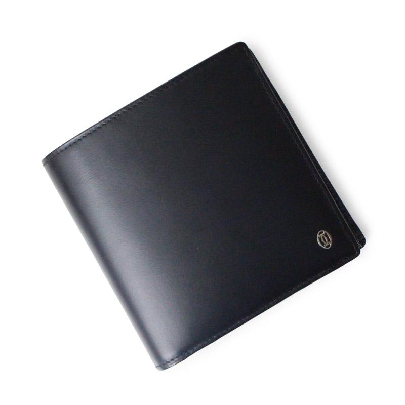 カルティエ パシャ ドゥ カルティエ 二つ折り財布 ブラック 黒 L3000137【新品・未使用品】