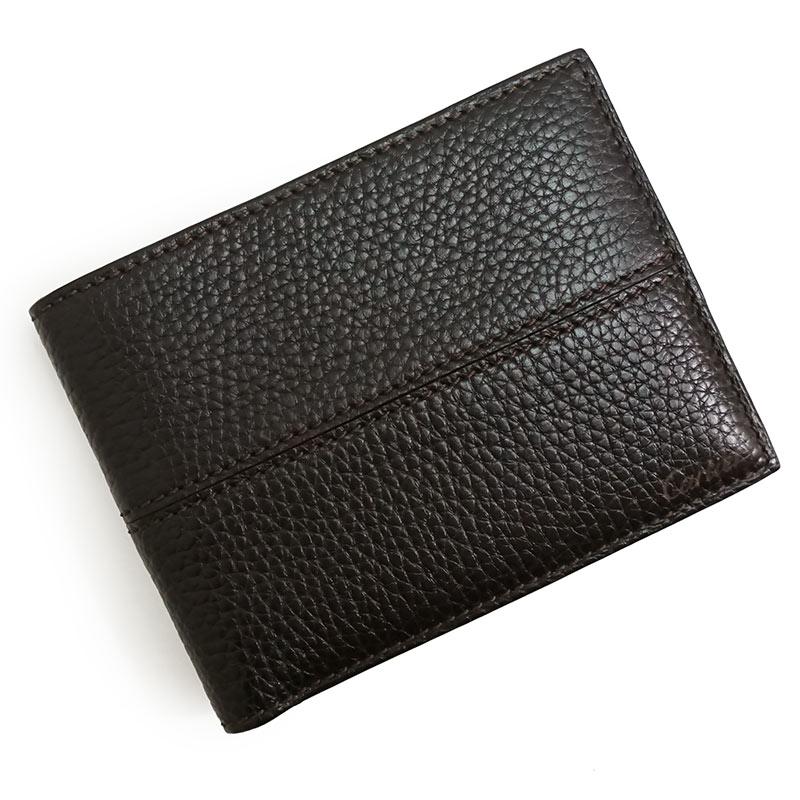 カルティエ エボニー レザー 二つ折り財布 札入れ ダークブラウン 茶 L3001158 箱付【新品・未使用品】