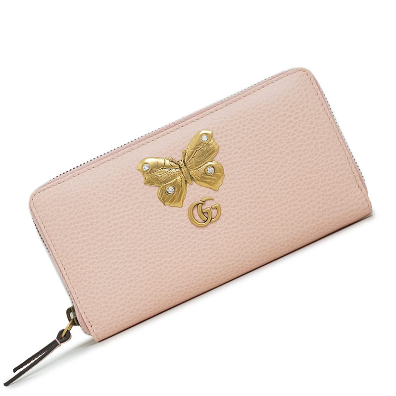 f5c2c6d1615e With 499,363 Gucci butterfly leather zip around wallet long wallet pink ...