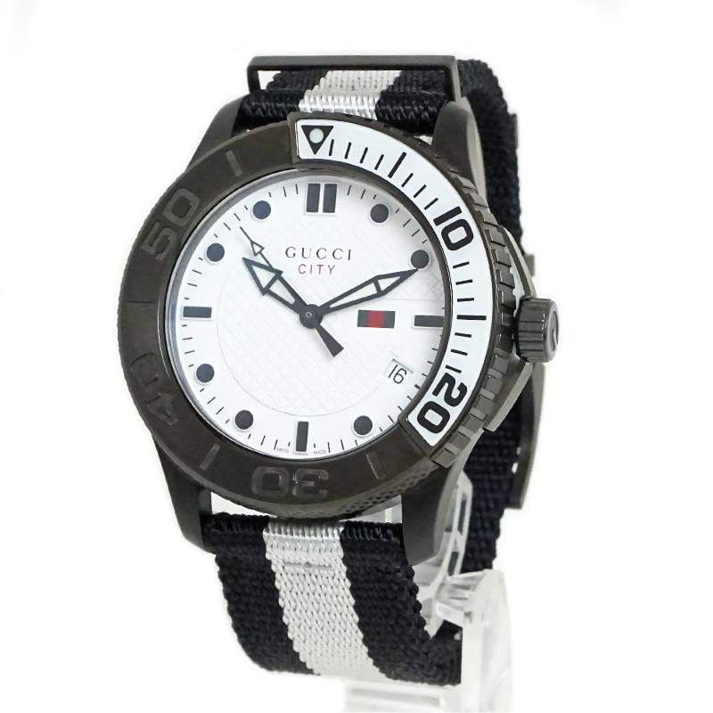 グッチ Gタイムレス シティ クォーツ ホワイト文字盤 メンズ 腕時計 YA126243【新品・未使用品】