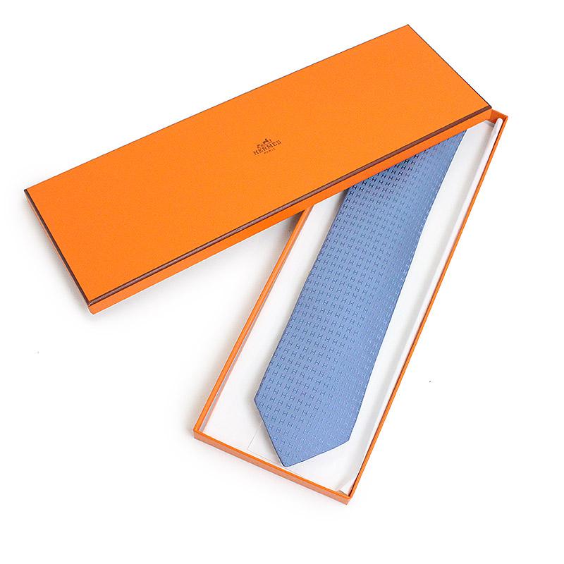 79b2724e8a3f ... With Hermes silk 100% tie FACONNEE H tie 030189T B3 Seychelles blue box  ...