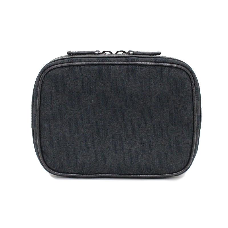 グッチ GGキャンバス メイクポーチ 黒 153129 箱付【新品・未使用品】
