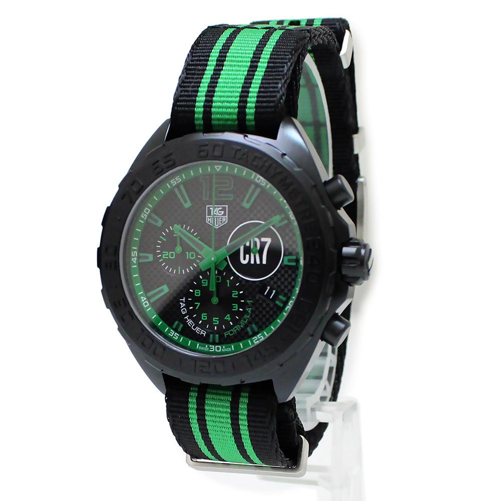 【未使用 展示品】タグホイヤー フォーミュラ1 クロノグラフ クリスティアーノ ロナウド メンズ 腕時計 クォーツ CAZ1113 世界3000本限定 箱付