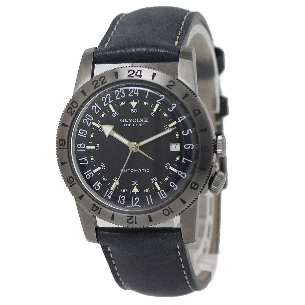 【美品】グライシン エアマン ビンテージ ザ チーフ メンズ 腕時計 自動巻き GL0252 箱付