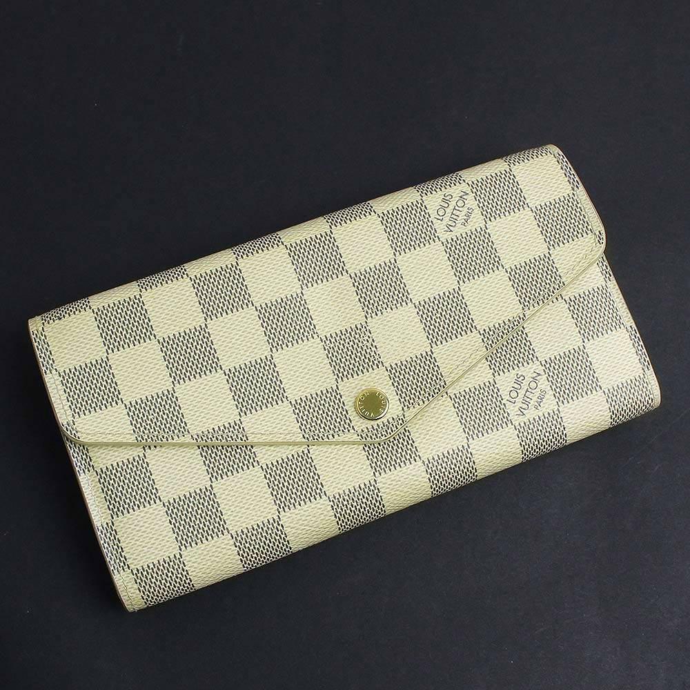 【中古】ルイ・ヴィトン アズール ポルトフォイユ・サラ 二つ折り長財布 N63208