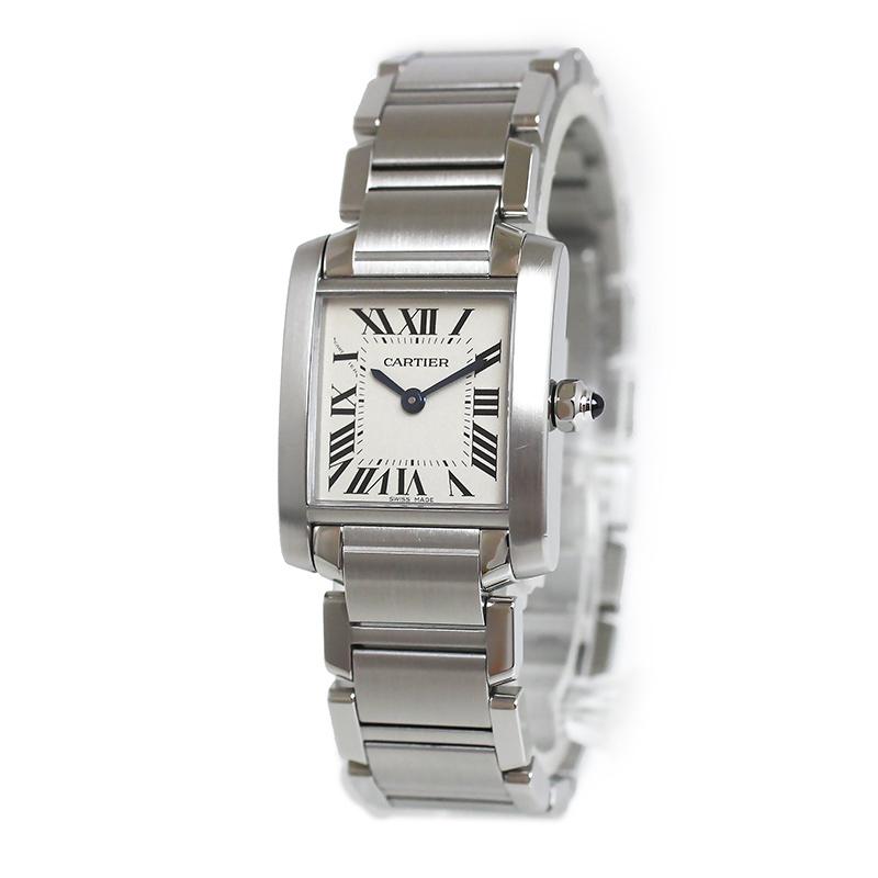 カルティエ タンクフランセーズ SM レディース クオーツ 腕時計 W51008Q3【美品】