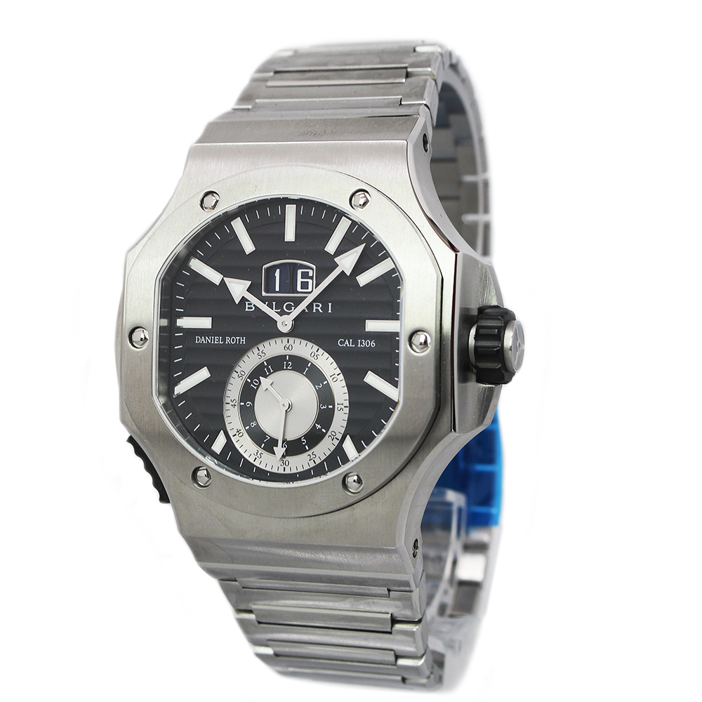 ブルガリ ダニエル・ロート クロノスプリント BRE56BSSDCHS 自動巻き メンズ 腕時計 箱付【未使用 展示品】