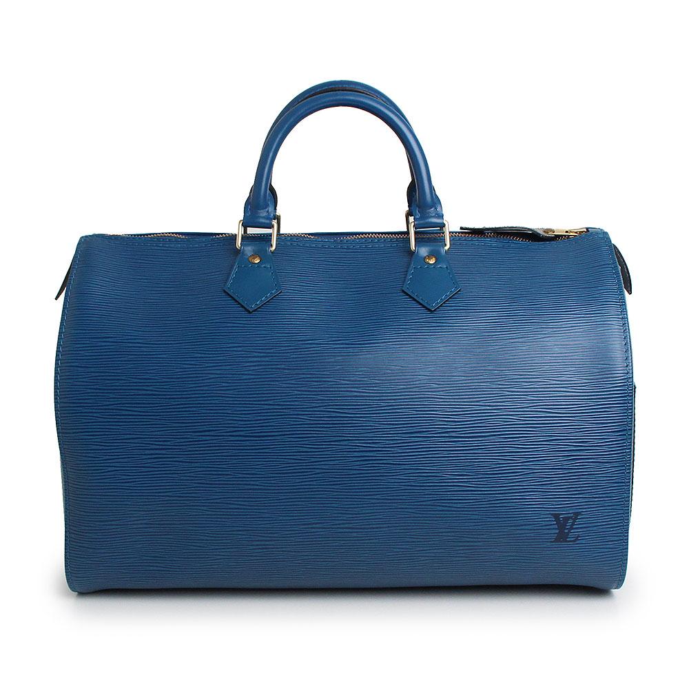 【美品】ルイ・ヴィトン エピ スピーディ 35 ハンドバッグ ブルー M42995