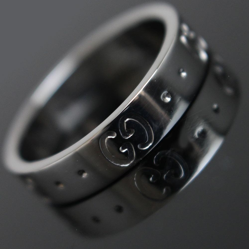 【中古】グッチ GG アイコン リング 指輪 750 K18WG ホワイトゴールド #9号 073230