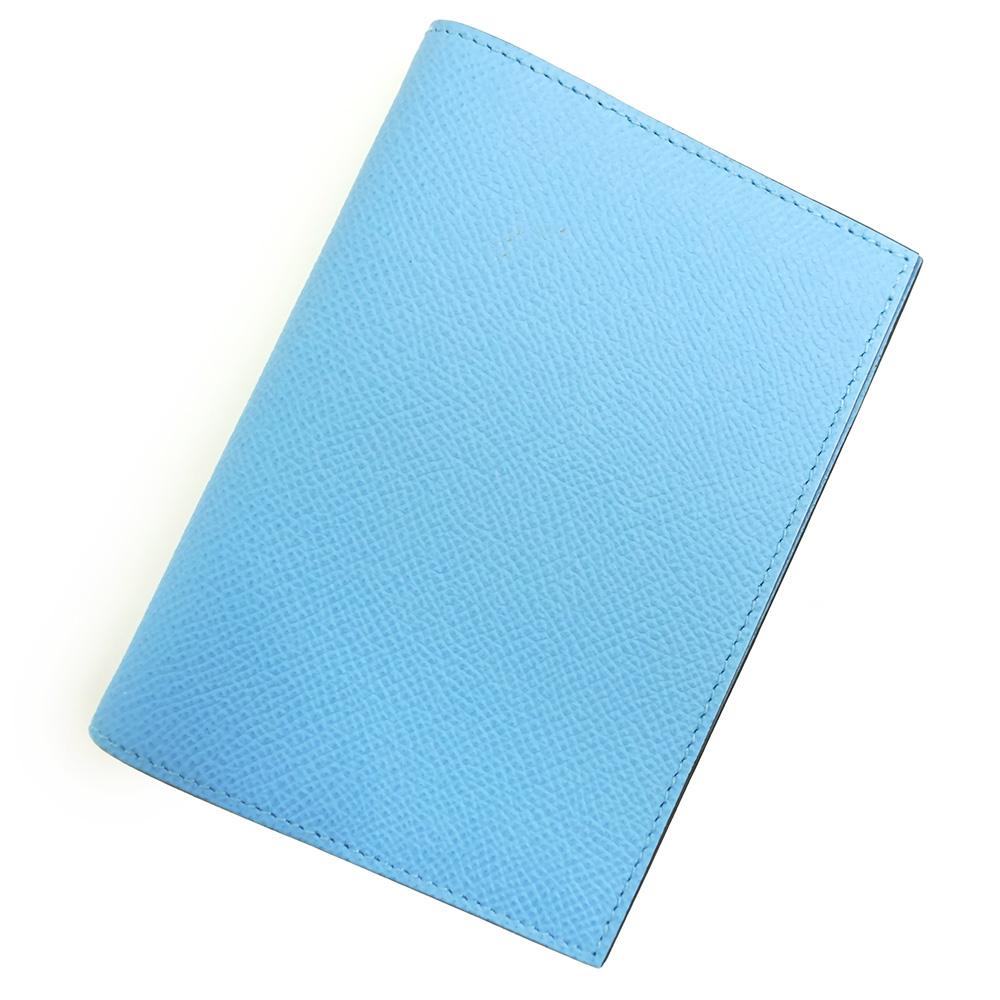 【新品・未使用品】エルメス アジェンダ GM エプソン 手帳カバー A刻印 H038536CA セレスト ブルー 箱付