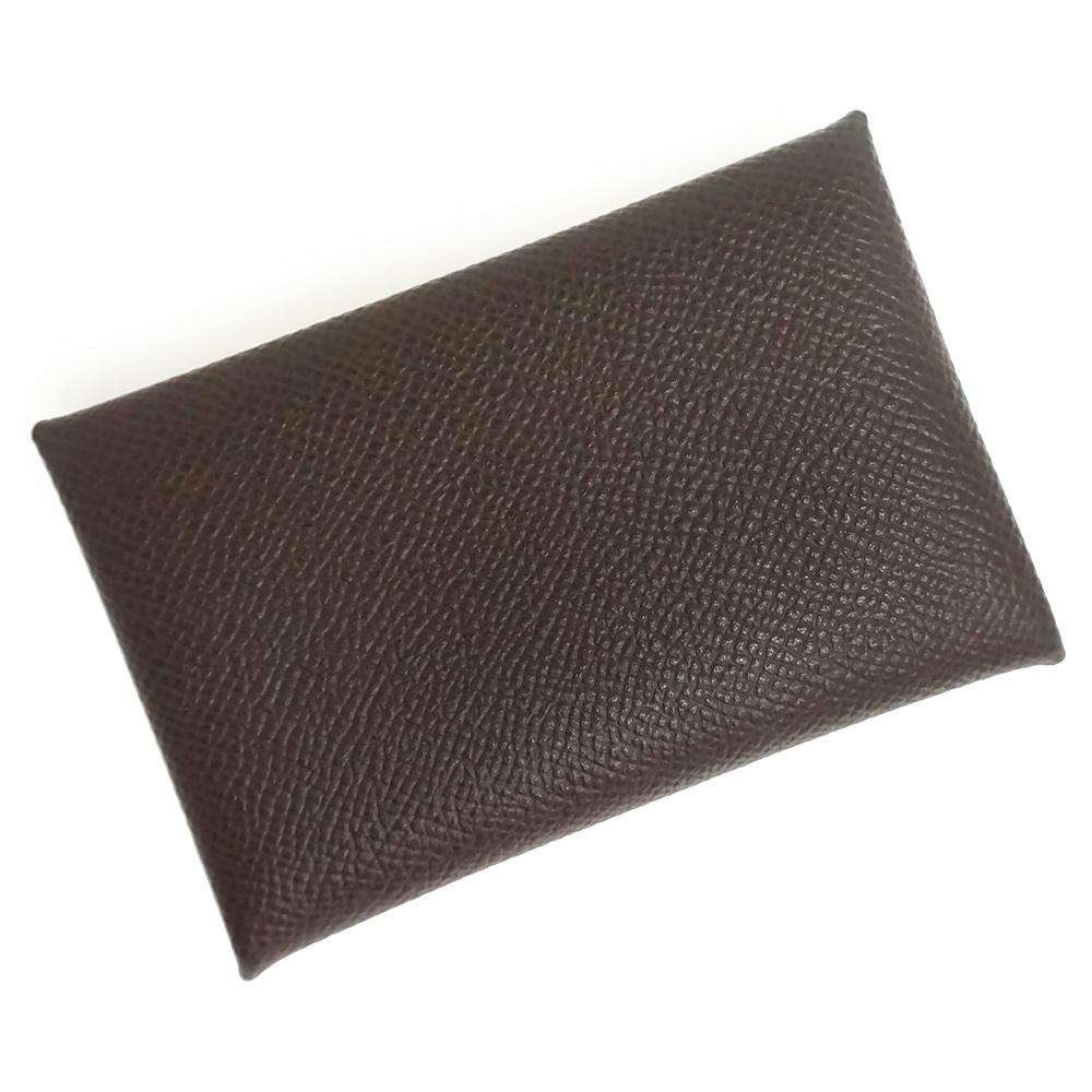 【新品・未使用品】エルメス エプソン カルヴィ カードケース 名刺入れ D刻印 H044164CK ショコラ 茶 箱付