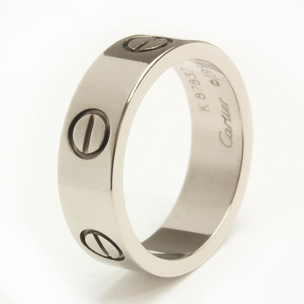 【中古】カルティエ ラブリング 指輪 750 K18WG ホワイトゴールド #50 10号 B4084700