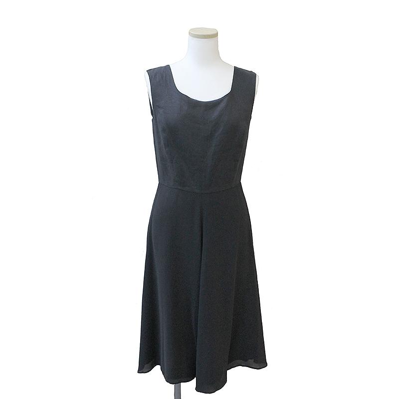 マックスマーラ シルク コンビ ドレス ワンピース 40 ブラックdCrxBoeW