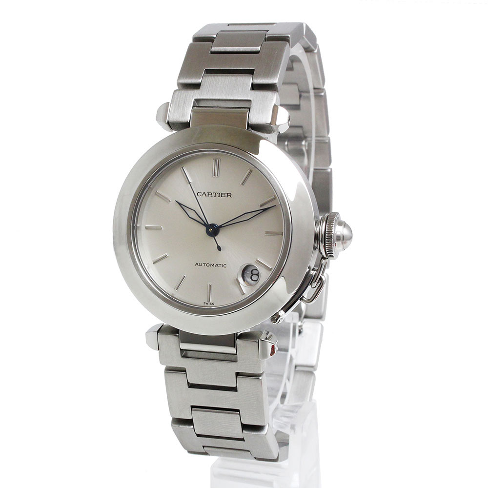 【美品】カルティエ パシャC 自動巻き メンズ 腕時計 W31010M7 箱付