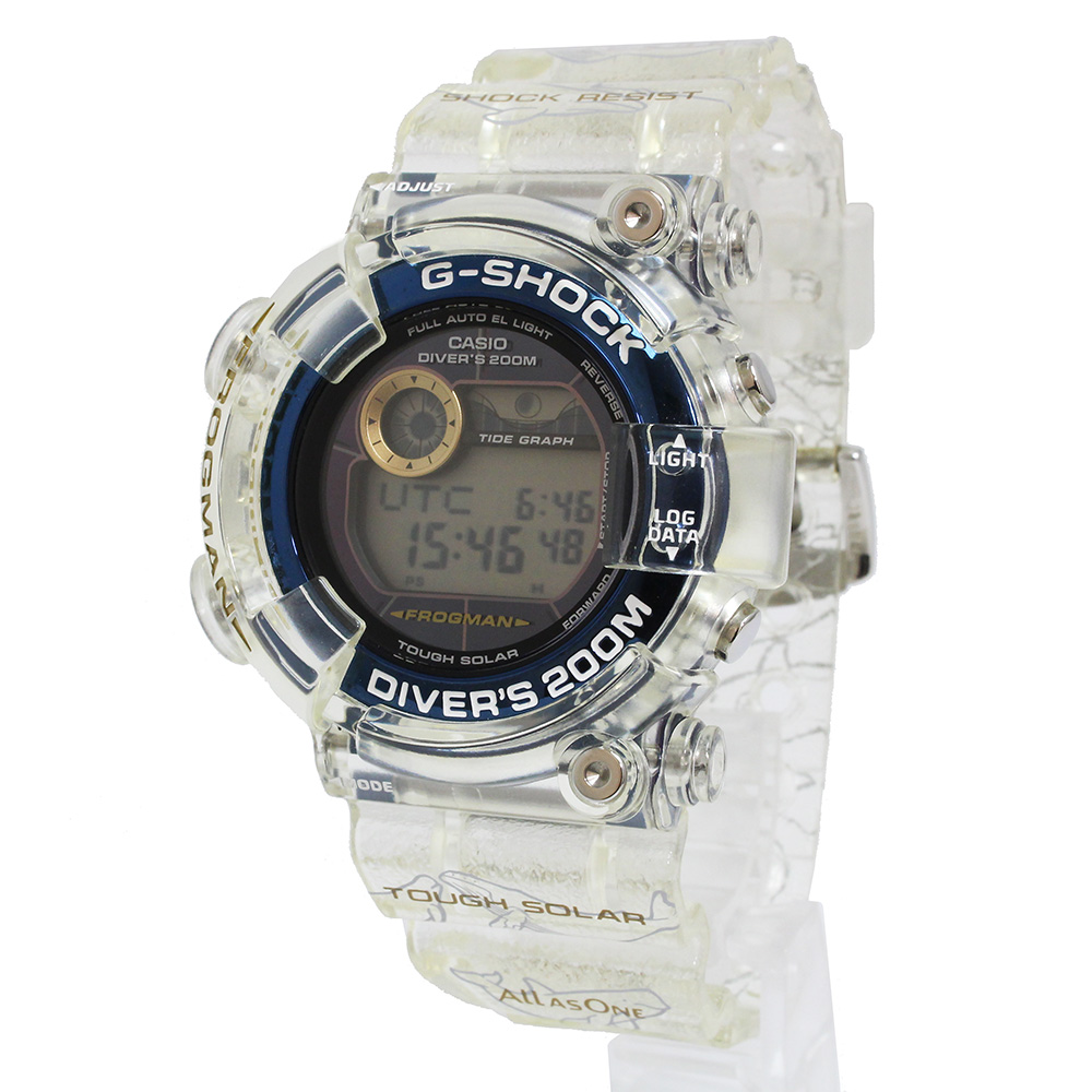【新品・未使用品】カシオ Gショック フロッグマン タフソーラー love The Sea And The Earth イルカ&クジラ メンズ 腕時計 GF-8251K-7JR 箱付