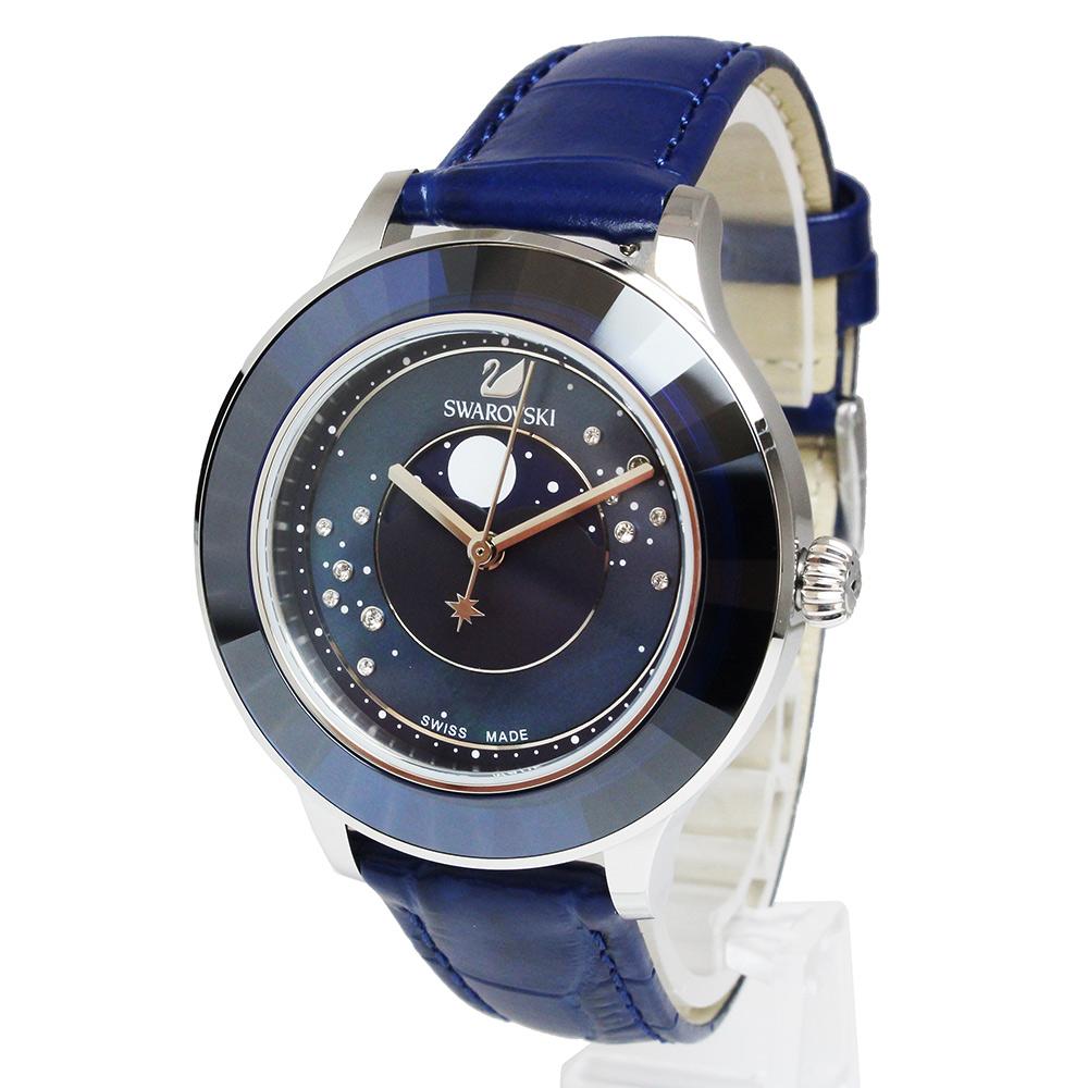 【未使用 展示品】スワロフスキー OCTEA LUX MOON オクティアラックス ムーン クオーツ レディース 腕時計 ブルー 青 5516305