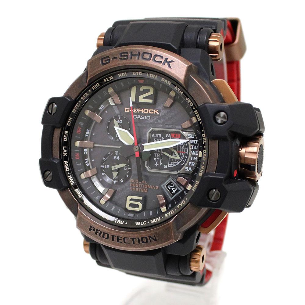 【未使用 展示品】カシオ Gショック グラビティマスター GPS ハイブリッド電波ソーラー メンズ 腕時計 GPW-1000RG-1AJF 箱付