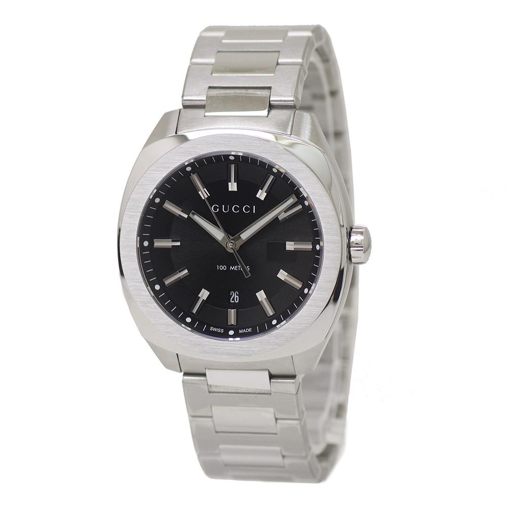 【新品・未使用品】グッチ GG2570 メンズ 腕時計 クォーツ SS 142.3 YA142301 箱付
