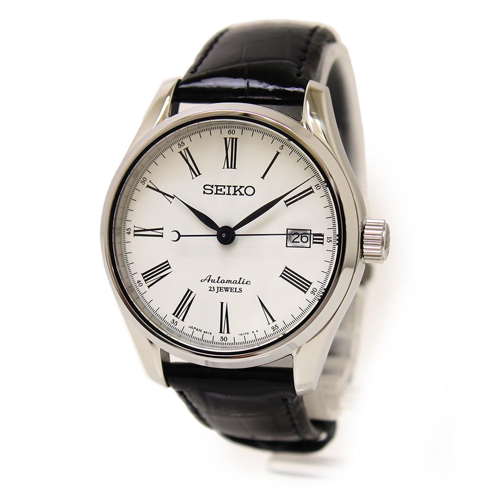 【未使用 展示品】セイコー プレサージュ 琺瑯ダイヤル メカニカル 自動巻き メンズ 腕時計 SARX049 箱付