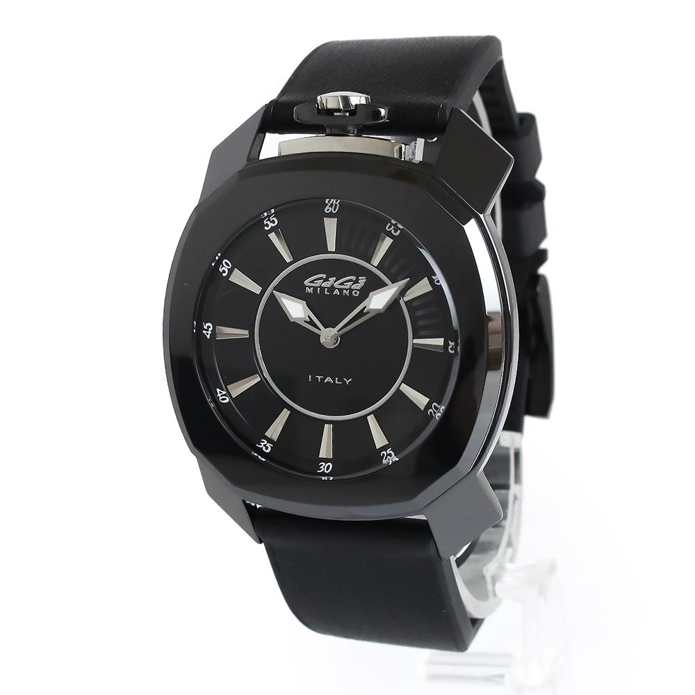 【未使用 展示品】ガガミラノ FRAME ONE フレームワン 44mm クォーツ メンズ 腕時計 ブラック 黒 7252.01 箱付