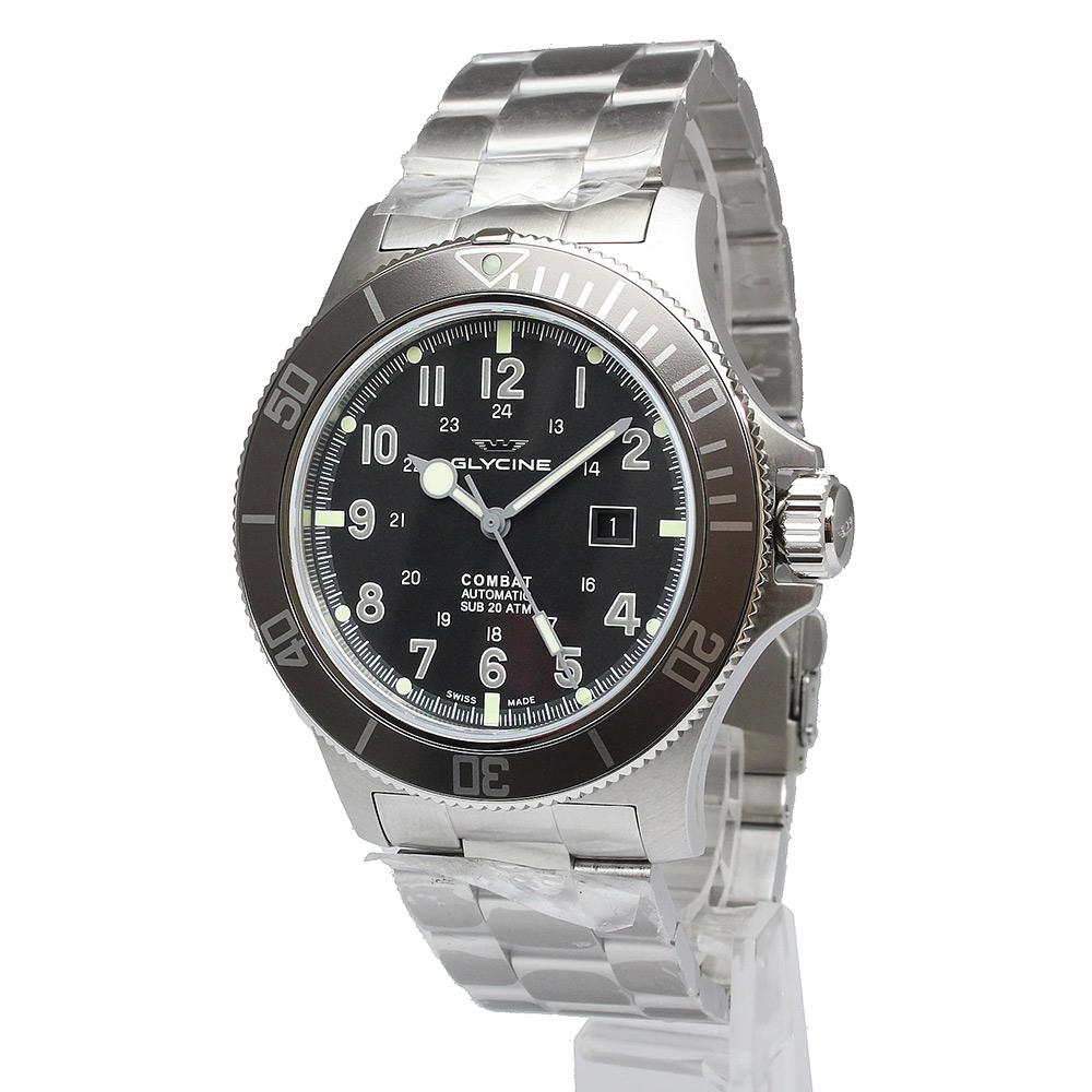 【未使用 展示品】グライシン グリシン コンバット サブ48 自動巻き メンズ 腕時計 GL0095 箱付