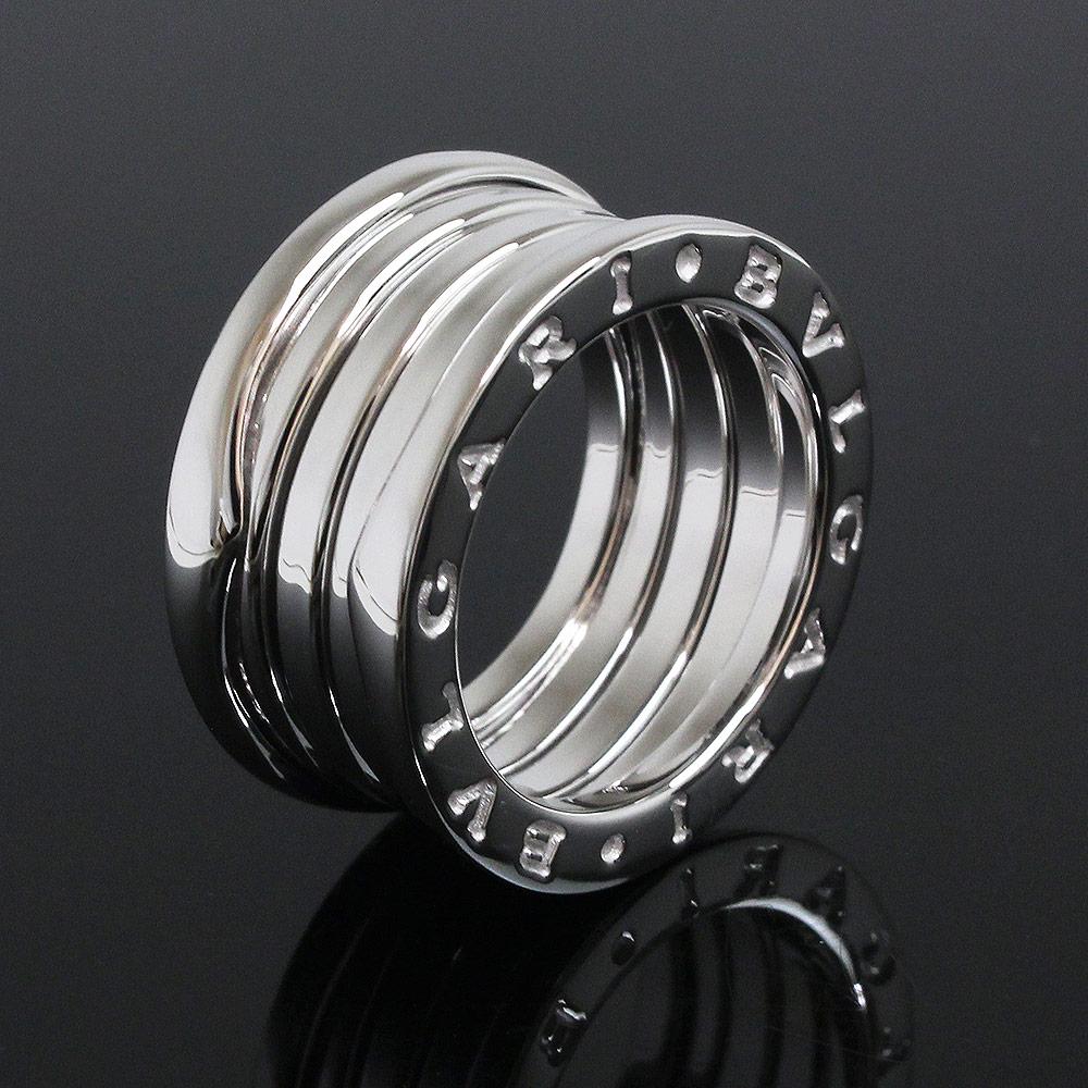 【美品】ブルガリ B zero 1 ビー ゼロワン 4バンド リング 指輪 750 K18WG ホワイトゴールド #50 10号 AN191026