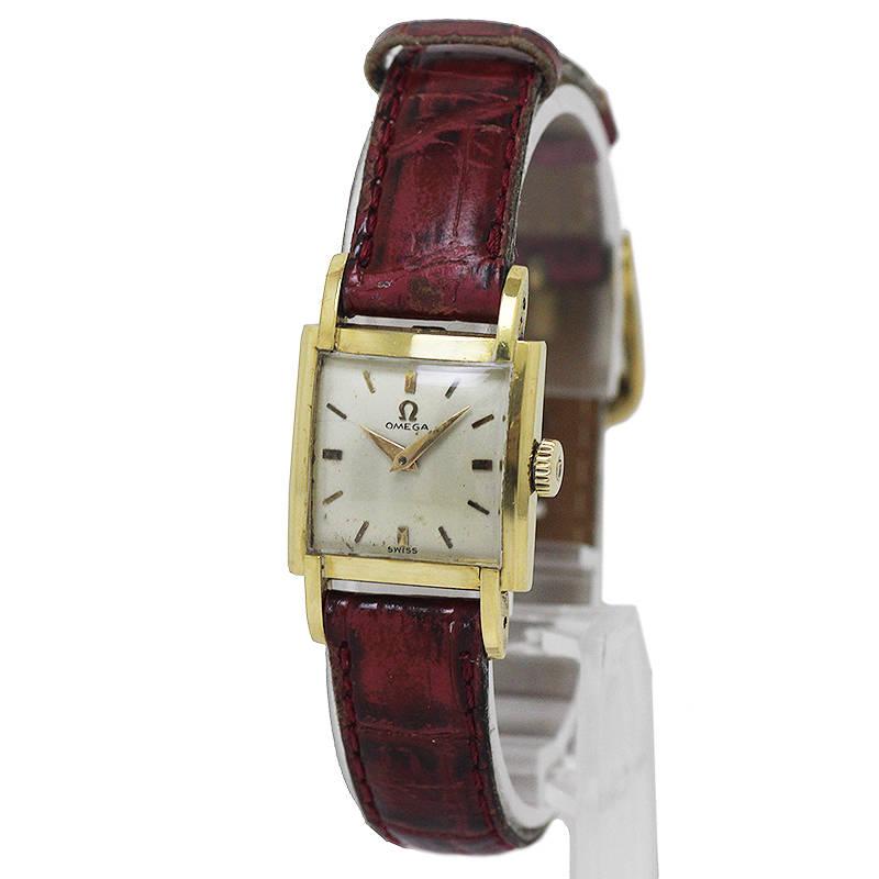 オメガ アンティーク スクエア レディース 腕時計 K18YG Cal.244 1950年代(中古)
