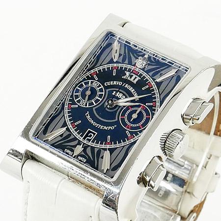 世界99本限定【CUERVO Y SOBRINOS クエルボイソブリノス】エスプレンディドス クロノグラフ A2416.1 メンズ SS 自動巻き オートマ 腕時計 送料無料 【中古】 ブランドキャンディ/BRAND CANDY