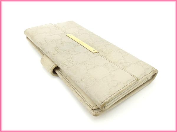 6e67736d56dd Gucci GUCCI long wallet/w hook guccissima leather white (aware) cheap  popular C1253