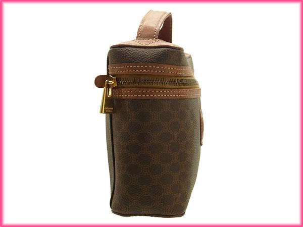 06acc2322499 Celine CELINE handbags pot big men-friendly macadam Brown x Brown PVC    leather with cheap popular C1585