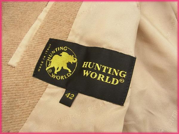 ハンティングワールド HUNTING WORLD コート アウター レディース サイズ42 ベージュ G152f7gby6