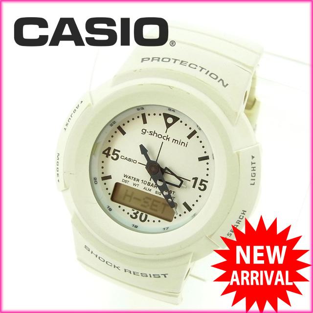 【お買い物マラソン】 【中古】 カシオ CASIO 腕時計 /G-SHOCK MIMI ホワイト ラバー (あす楽対応)(激安・即納) Y309 .