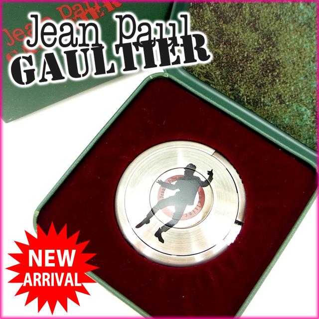 【中古】 ジャンポール・ゴルチェ Jean Paul Gaultier ライター /レディースメンズ可 UFOライター SBシルエット(男) シルバー メタル (あす楽対応)(奇跡的入荷・中古) Y535 .