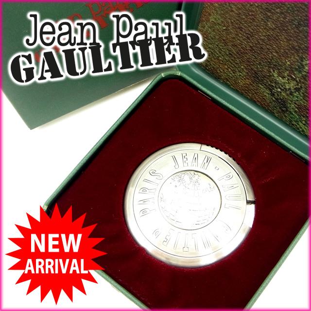 【中古】 ジャンポール・ゴルチェ Jean Paul Gaultier ライター /レディースメンズ可 UFOライター GB地図 シルバー メタル (あす楽対応)(奇跡的入荷・中古) Y537