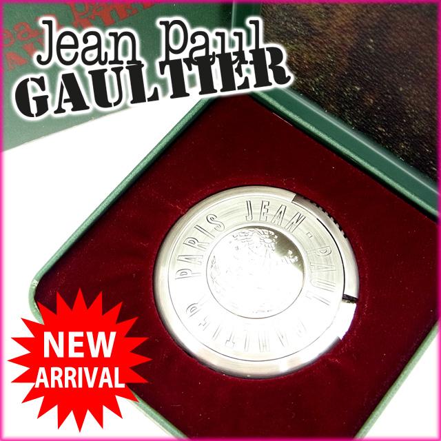 【中古】 ジャンポール・ゴルチェ Jean Paul Gaultier ライター /レディースメンズ可 UFOライター GB地図 シルバー メタル (あす楽対応)(奇跡的入荷・中古) Y539 .
