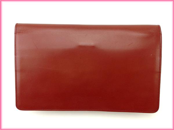 【中古】 カルティエ Cartier クラッチバッグ セカンドバッグ レディース マストライン ボルドー 人気 良品 T7654 .