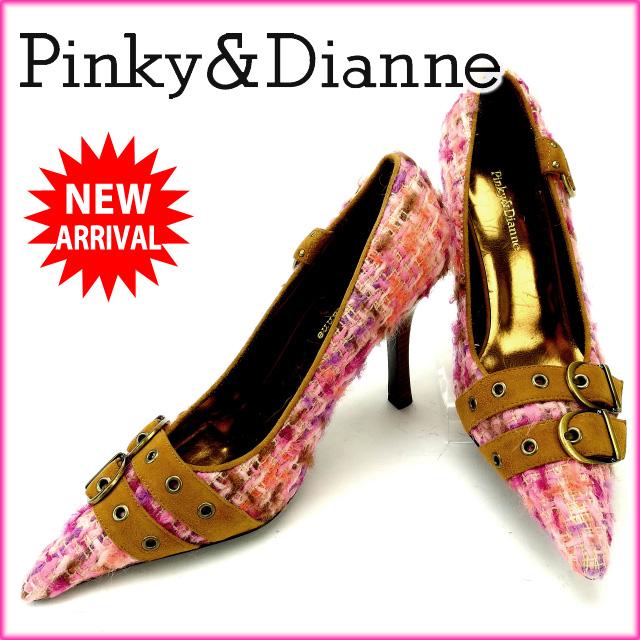 【中古】 ピンキー&ダイアン Pinky&Dianne パンプス #M レディース ツイード ピンク×パープル×ライトブラウン (あす楽対応)人気 美品 Y1388 .
