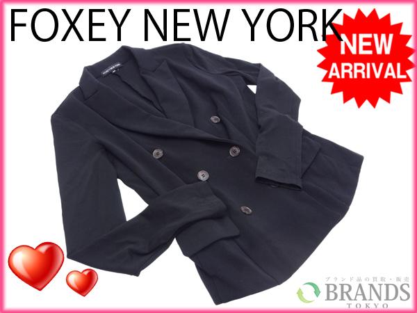 【中古】 フォクシーニューヨーク FOXEY NEW YORK レディースジャケット #40 /レディース ブラック ナイロン (あす楽対応)(激安・即納) M616 .