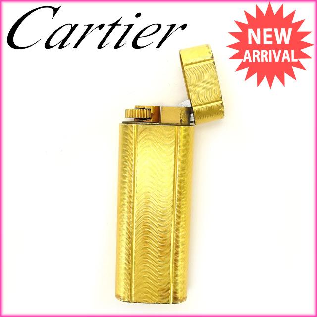 【中古】 カルティエ Cartier ライター ゴールドゴールド (あす楽対応)人気 良品 Y1728 .