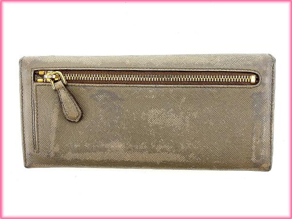 dbad39138dab88 Prada PRADA long wallet mens-friendly gray leather with cheap sale E920