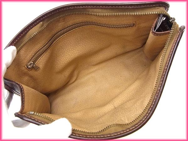 セリーヌ セカンドバッグ クラッチバッグ マカダム ブラウン系×ゴールド CELINE クラッチ バック ファッション 収納 ブl1KcFJ